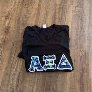 Tops - Vera Bradley Alpha XI Delta sorority T-shirt